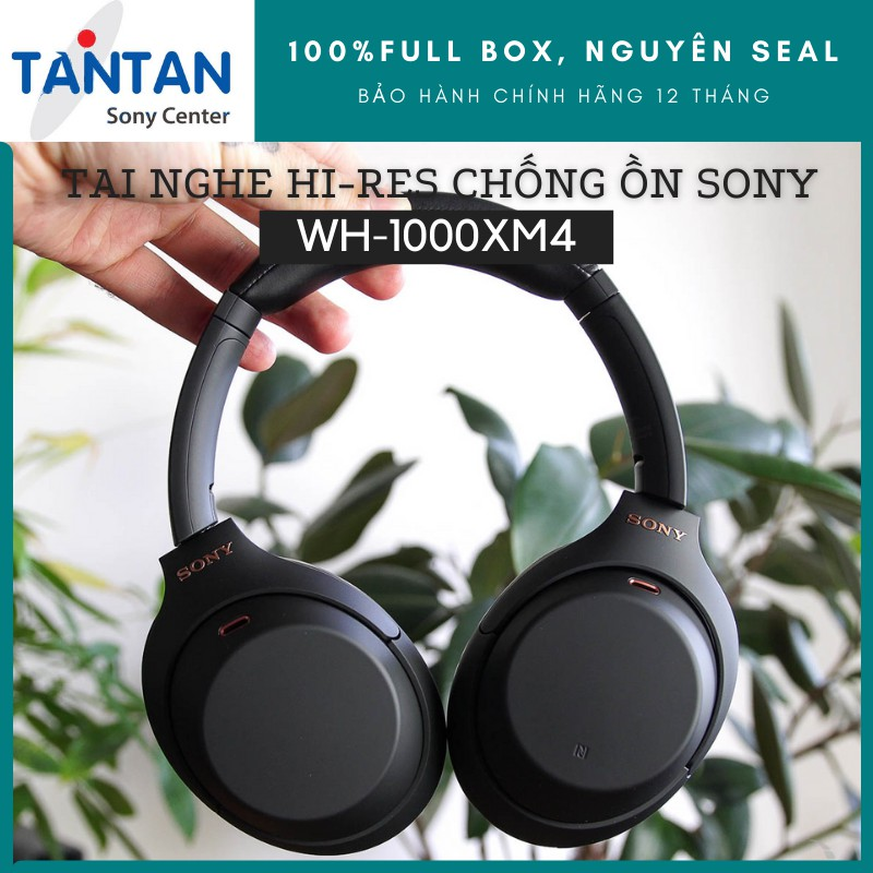 Tai Nghe Sony BLUETOOTH HI-RES CHỐNG ỒN Sony WH-1000XM4   Dsee Extreme - Speak to Chat - Pin: 38h - Quick Attention