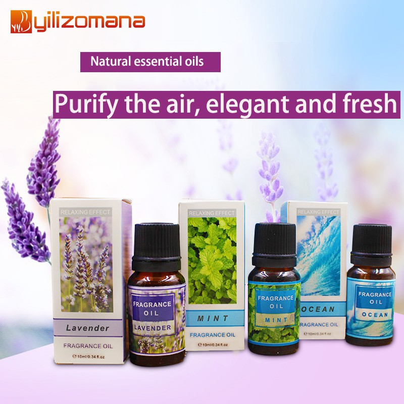 Essential Oil Water Soluble Natural Aroma For Aromatherapy Diffuser Humidifier Massage 10 ml