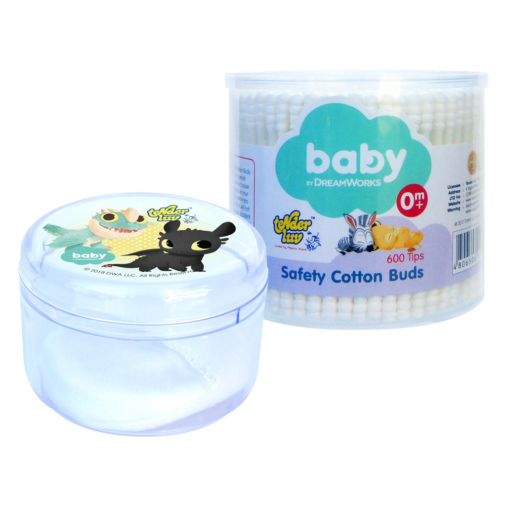 DreamWorks Baby Safety Cotton Buds and DreamWorks Baby Powder Case