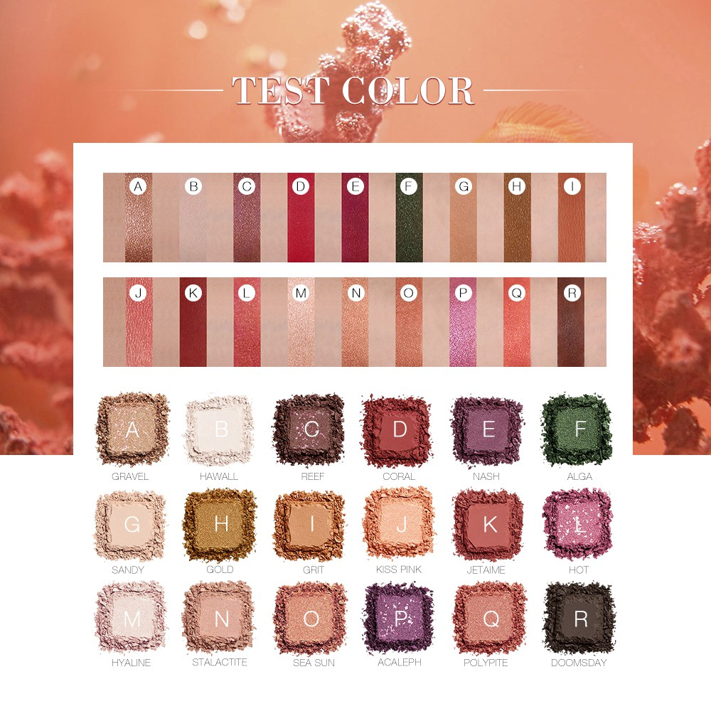 O.TWO.O Eyeshadow Palette Pigmented Matte & Shimmer 18Colors