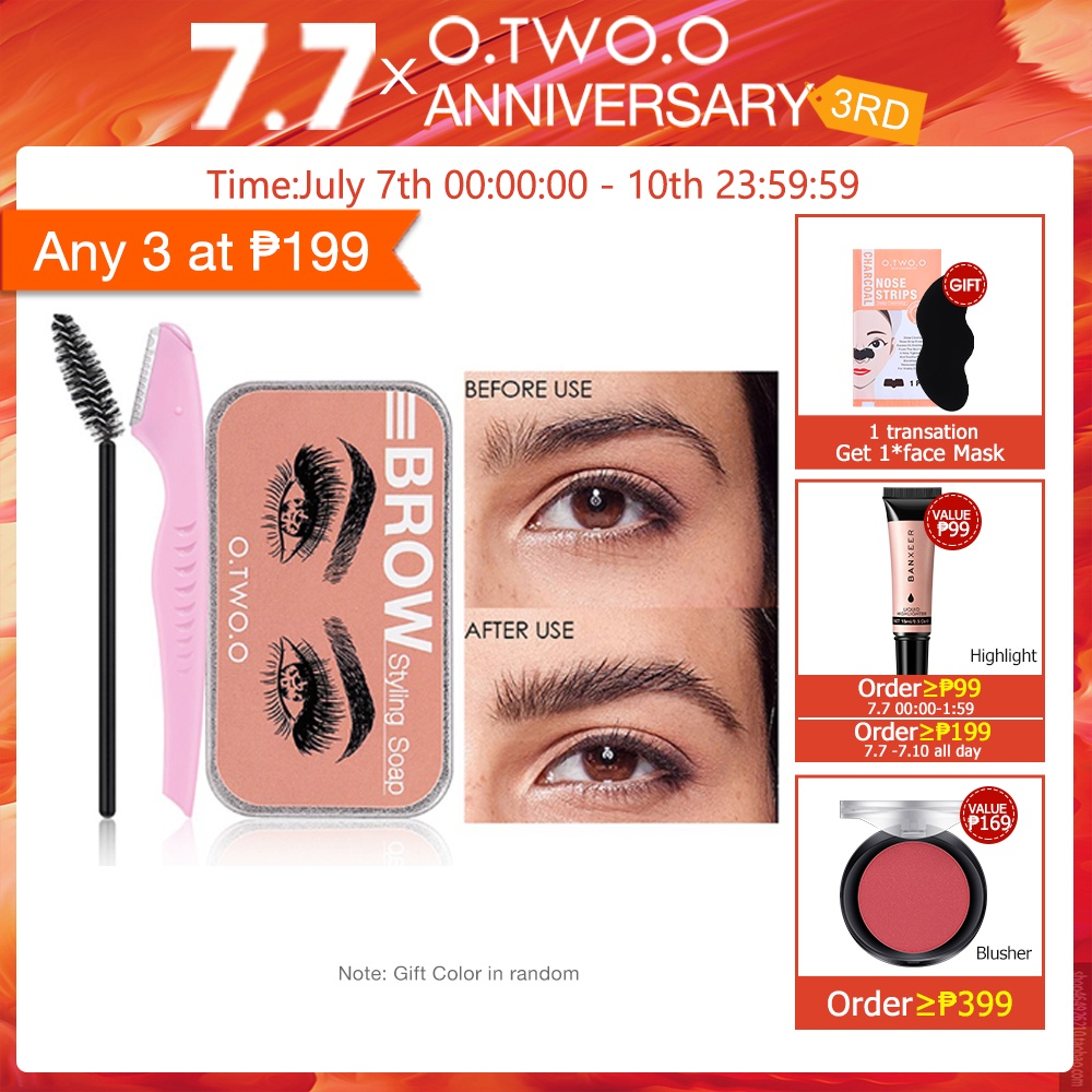 O.TWO.O Eyebrow Soap Brow Sculpt Lift Brow Styling Soap Waterproof Long Lasting Eyebrow Gel Pomade  Eyebrow Soap Wax With Trimmer