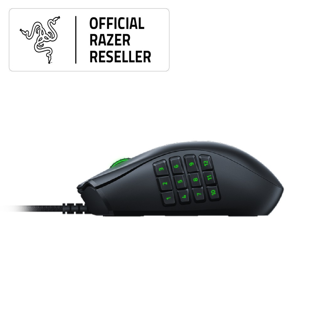 Razer Naga X - Ergonomic MMO Gaming Mouse with 16 buttons