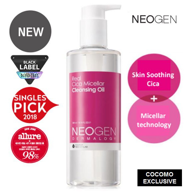 Neogen Dermalogy Real Cica Micellar Cleansing Oil 300ml - COCOMO