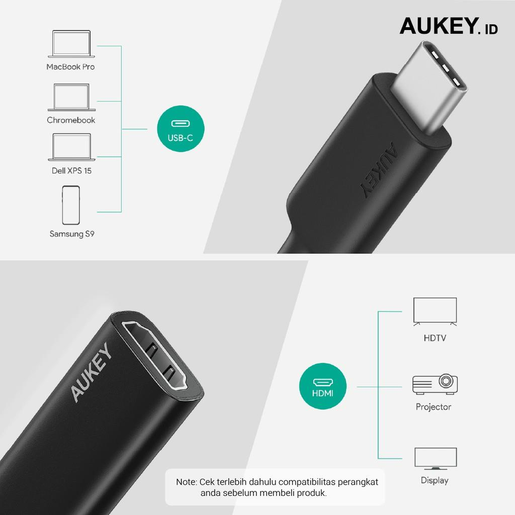 Adapter Type C Aukey CB-A29 USB-C to HDMI Port - 500585