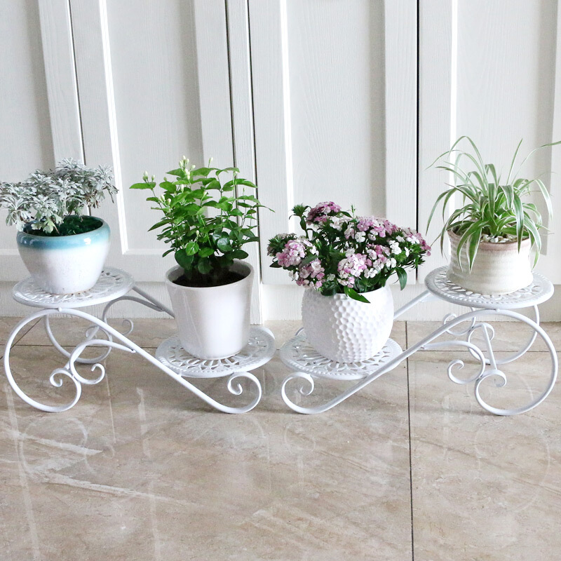 YSHF Iron Shelf Multi-layer Indoor Special Offer Space-saving Balcony European-style Living Room Flower Pot Stand Succulent Bay Window Plant Stand