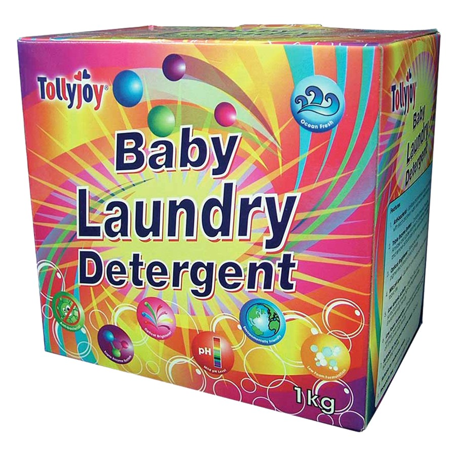 TOLLYJOY Baby Laundry Detergent Powder 1kg - Floral/Ocean