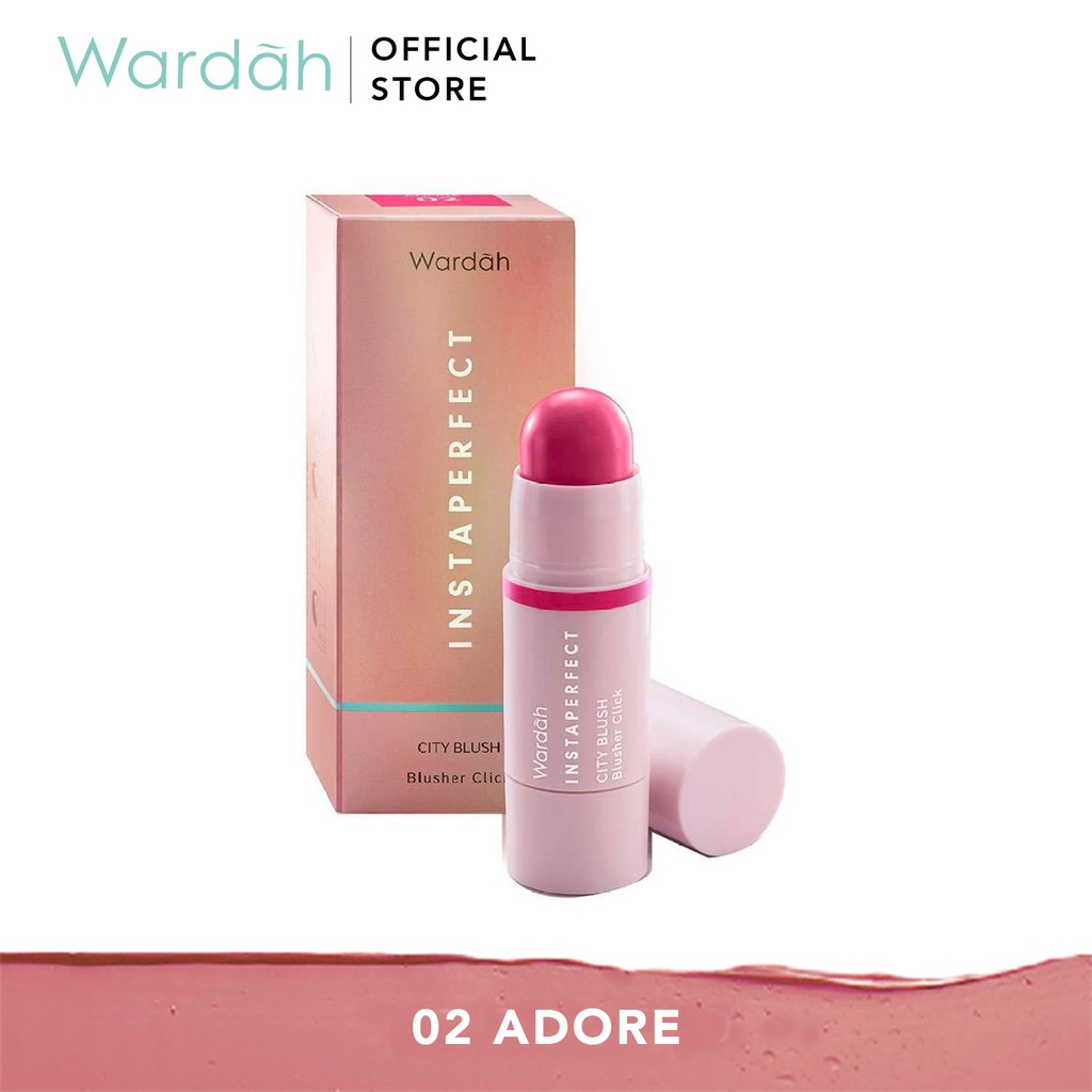 CLEARANCE:  Wardah Instaperfect City Blush Blusher Click 02. Adore