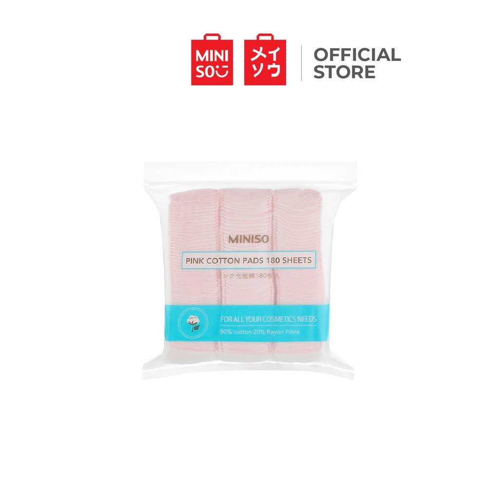Miniso Cotton Pads Pink