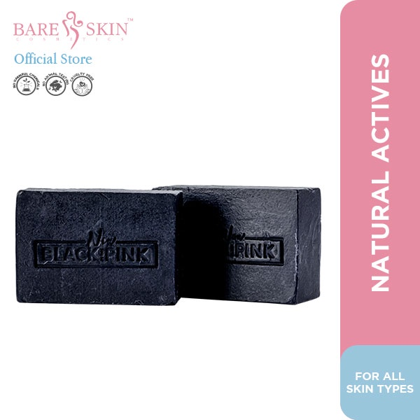Bare Skin Cosmetics Black Is The New Pink Charcoal Kojic Soap