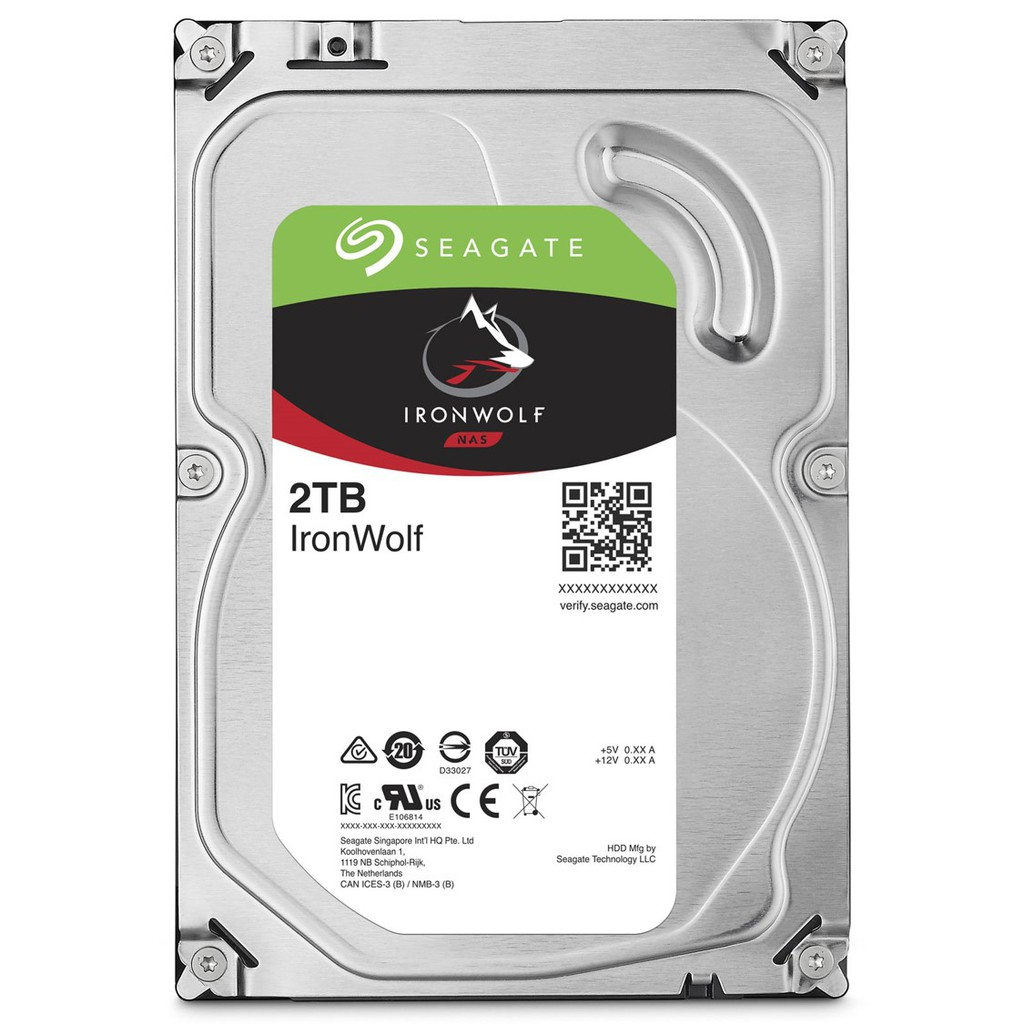 """Ổ cứng HDD 3.5"""" NAS SEAGATE Ironwolf 2TB SATA 5900RPM_ST2000VN004"""