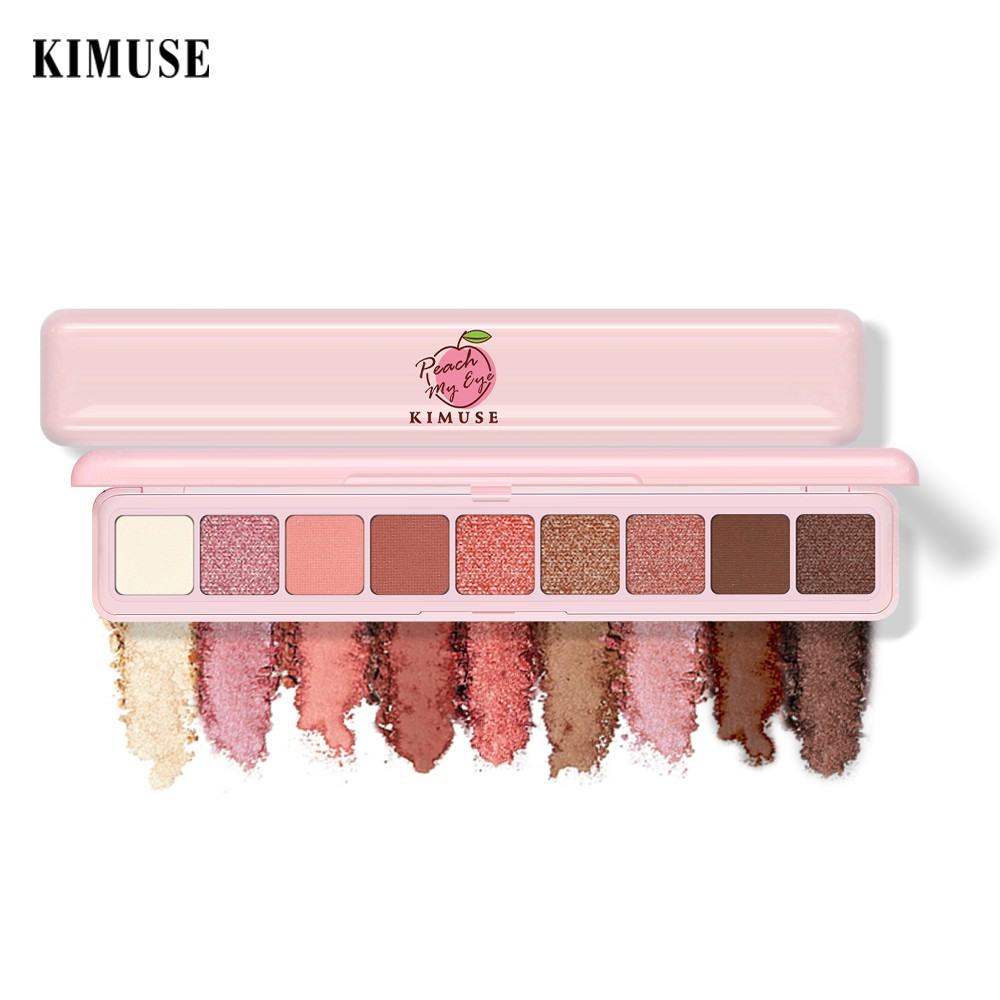 Kimuse Eyeshadow Palette Matte Portable Delicated Ribbon Glitter Pigmented Powder