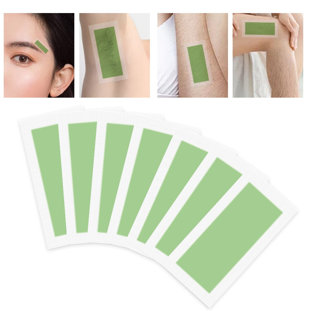 1pc Hair Removal Double Sided Cold Wax Strips Paper Epilator cruelty-free