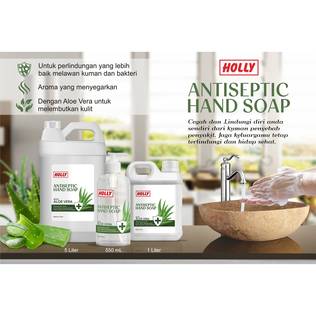 Holly Hand Soap Antiseptic 1 Liter