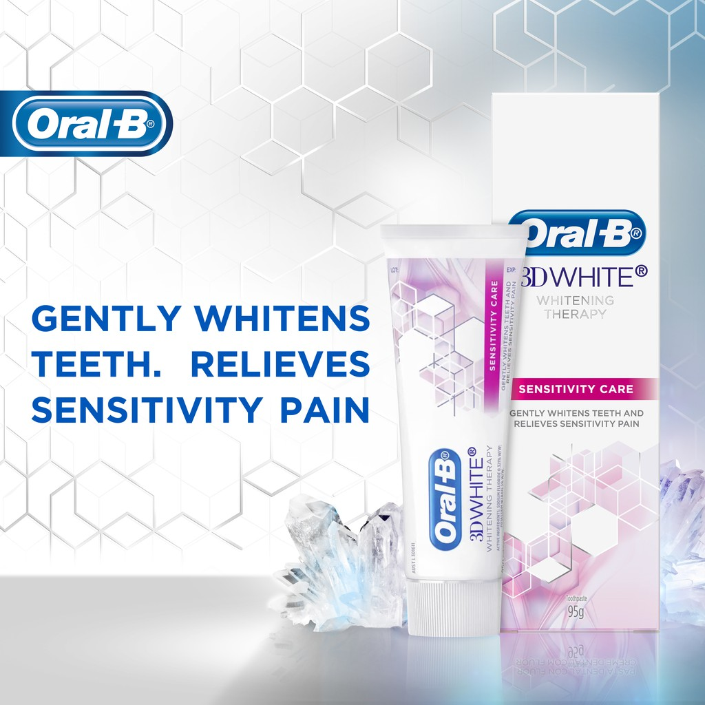 Oral-B 3D White Whitening Therapy Deep Clean Toothpaste 95g