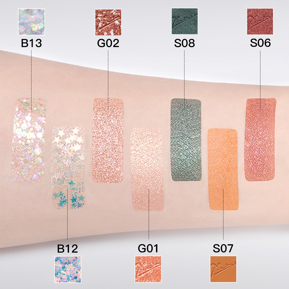 ZEESEA Picasso 7 Colors Eyeshadow Palette Pigmented Glitter Shimmer Eyes Makeup Cosmetics