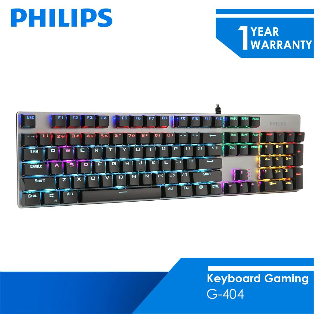 Philips Keyboard Gaming Mechanical G-404 2.4 GHz