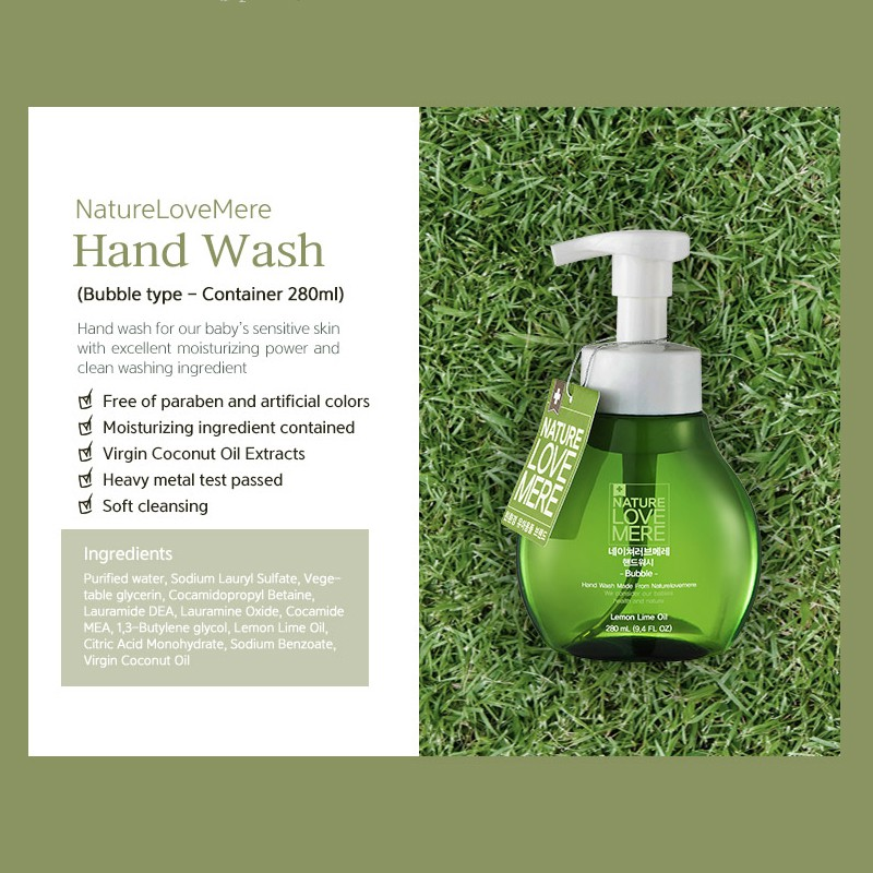 Nature Love Mere Bubble Hand Wash | Moisturizing foaming soap for sensitive skin and excellent cleaning