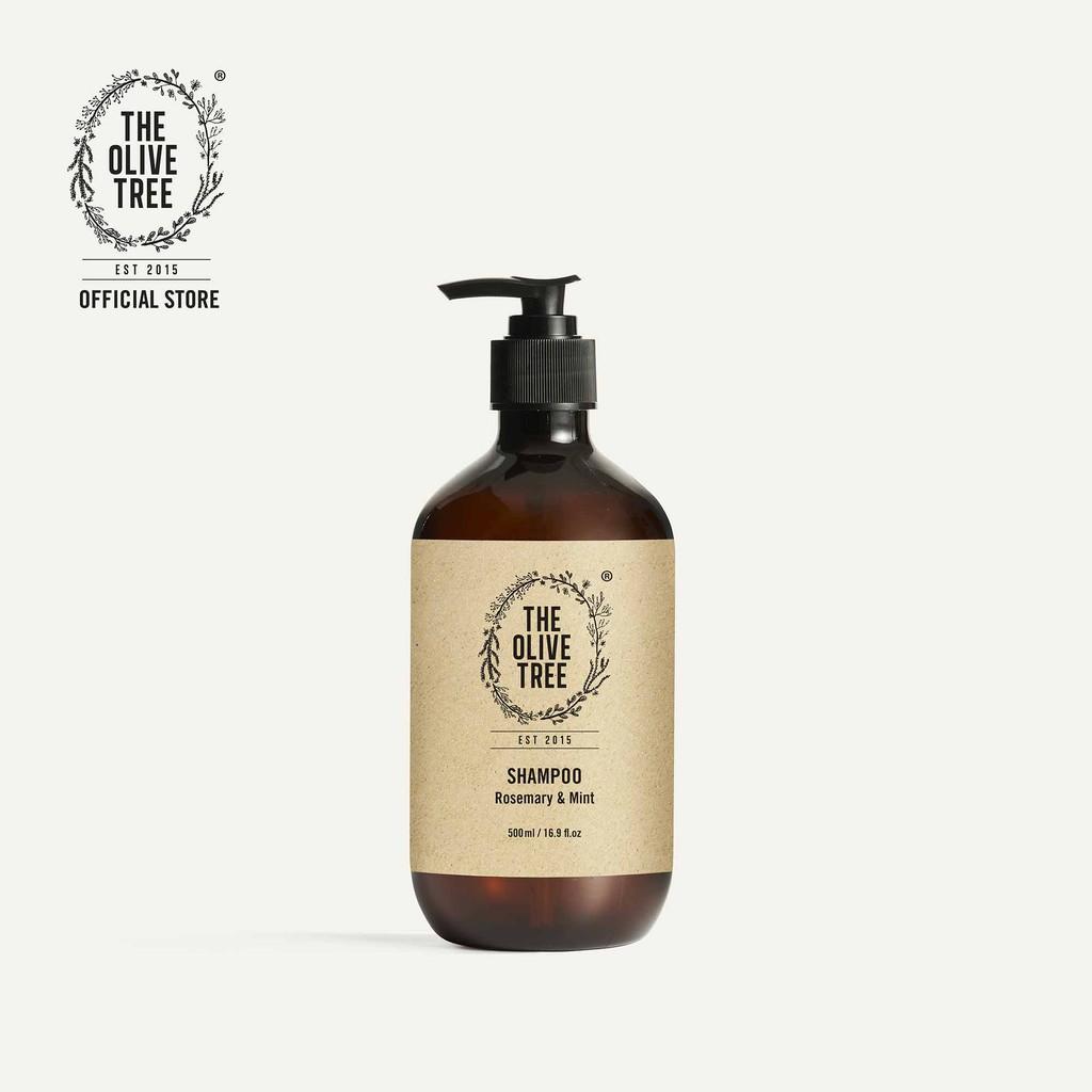 The Olive Tree Rosemary & Mint Shampoo 500ml for Hair Growth / Hair Loss / Itchy / Flaky / Rambut Gugur / Natural