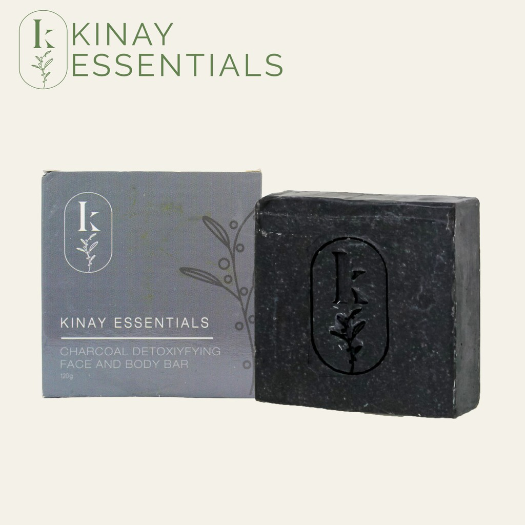 Kinay Essentials Activated Charcoal Detoxifying Face and Body Soap Bar
