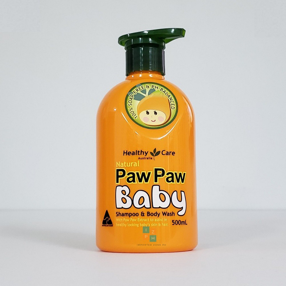 HEALTHY CARE : All Natural Paw Paw Baby Shampoo & Body Wash 500ML