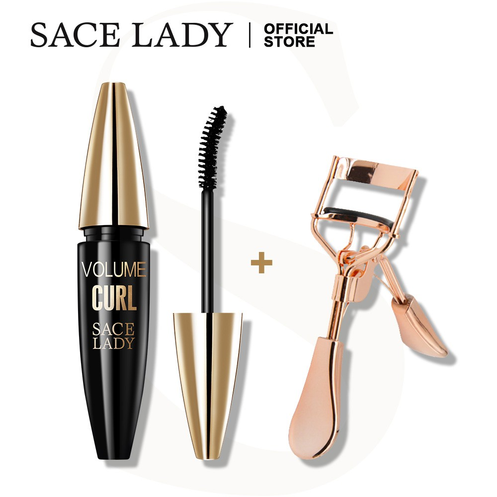 SACE LADY Waterproof Mascara Lasting Long Lashes Curling Smudge-proof Eye Makeup Cosmetic