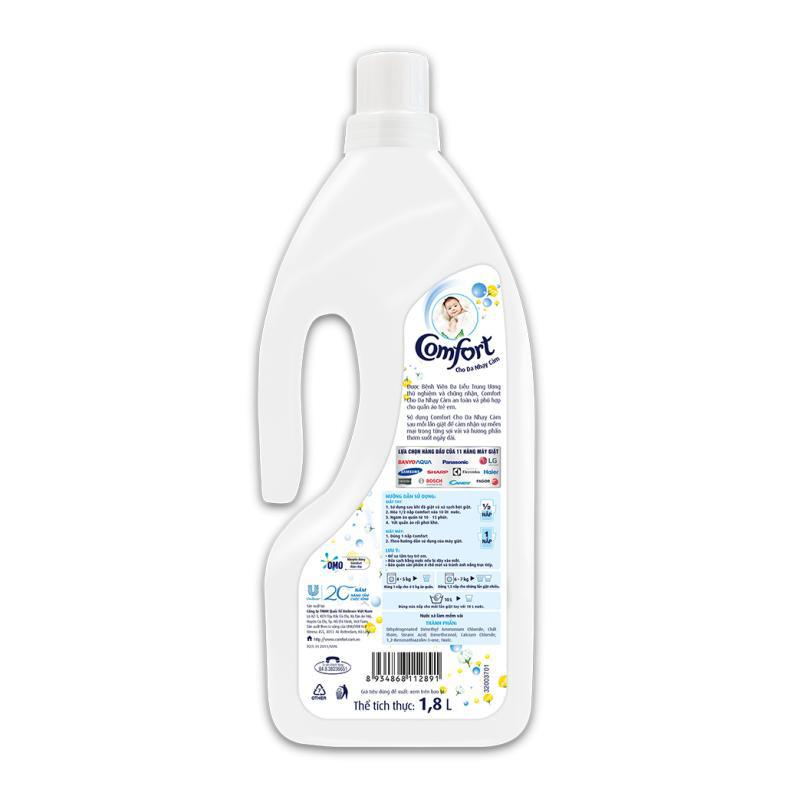 Bundle of 3 Comfort Concentrate Ultra Pure Fabric Softener 1.8L