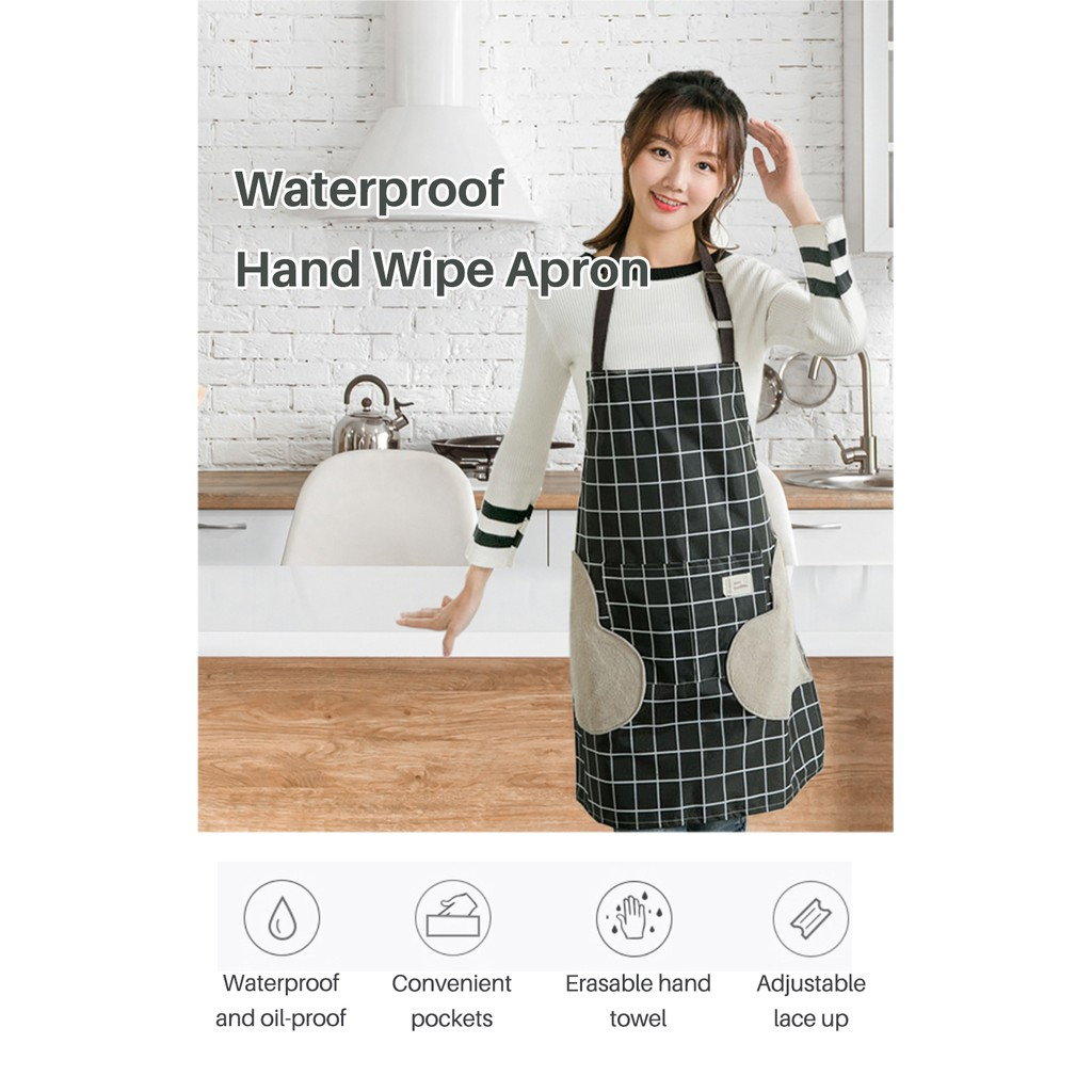 Waterproof Hand Wipe Apron Wiping and Oil Proof Adjustable Aprons Cooking In Household Kitchen Erasable Hand Towel