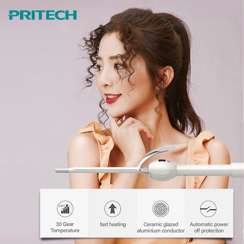 Pritech 9mm Electric Hair Curler Professional Hair Irons Curling Wand Roller