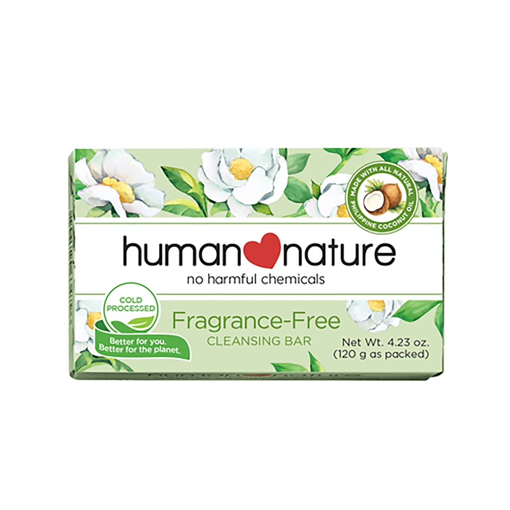 Human Nature Fragrance Free Gentle Cleansing Bar Soap 120g
