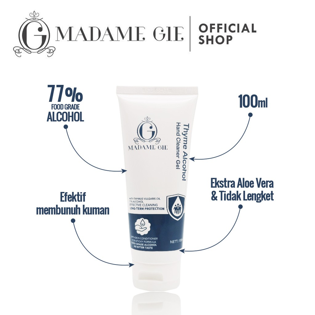 Madame Gie Thyme Alcohol Hand Cleaner Gel - Hand Sanitizer