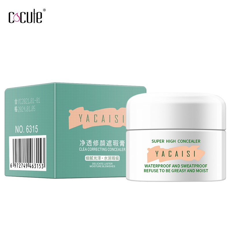 Cocute concealer Cream Moisturizing Lightweight Breathable Natural 3 Color face makeup