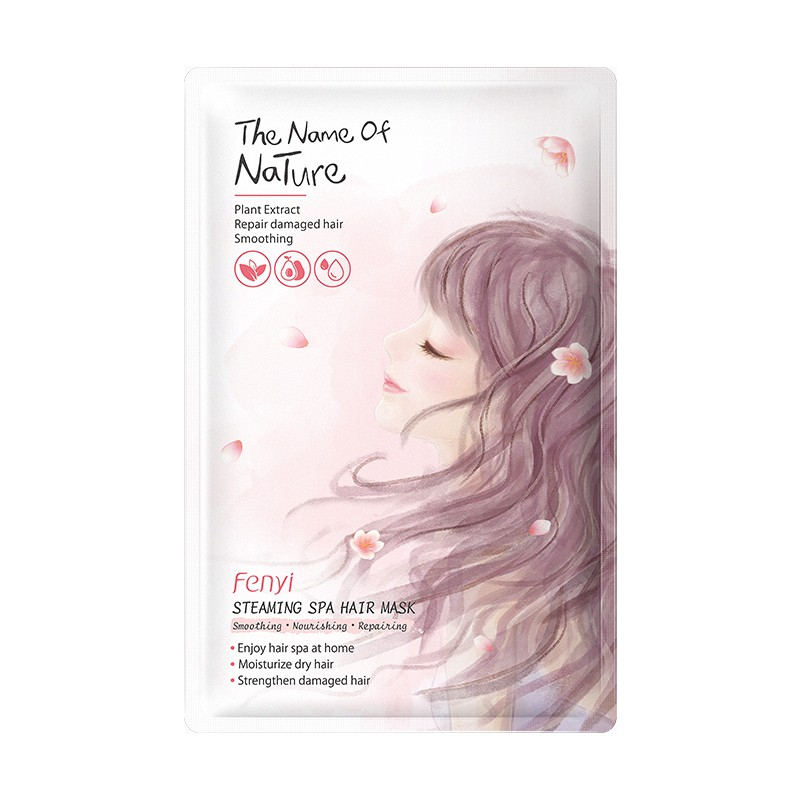 Hair Mask Spa Repairing Straightening Curly Treatment For Dry Damaged Hair Split Ends Improve Frizzy Smooth Hair 1pc