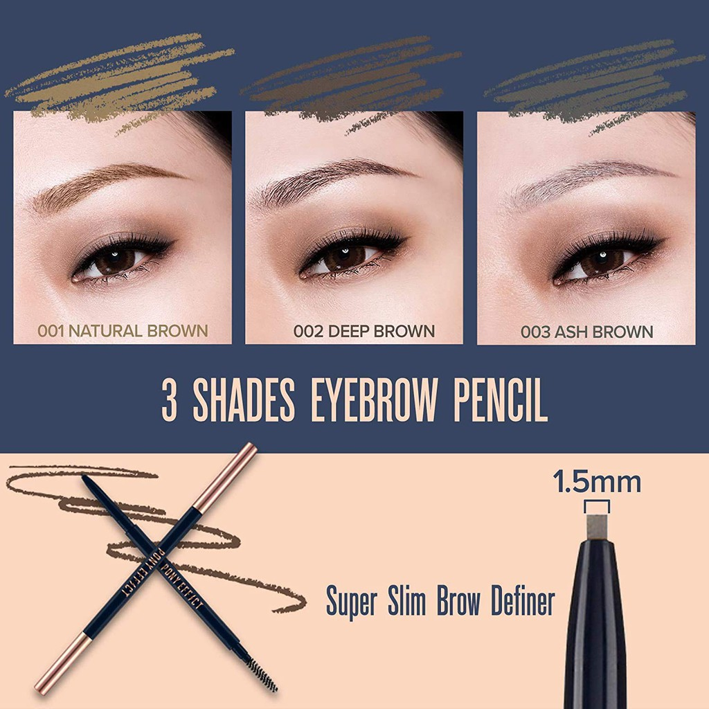 [PONY EFFECT Official] Sharping Brow Definer | Ultra Slim Eyebrow Pencil