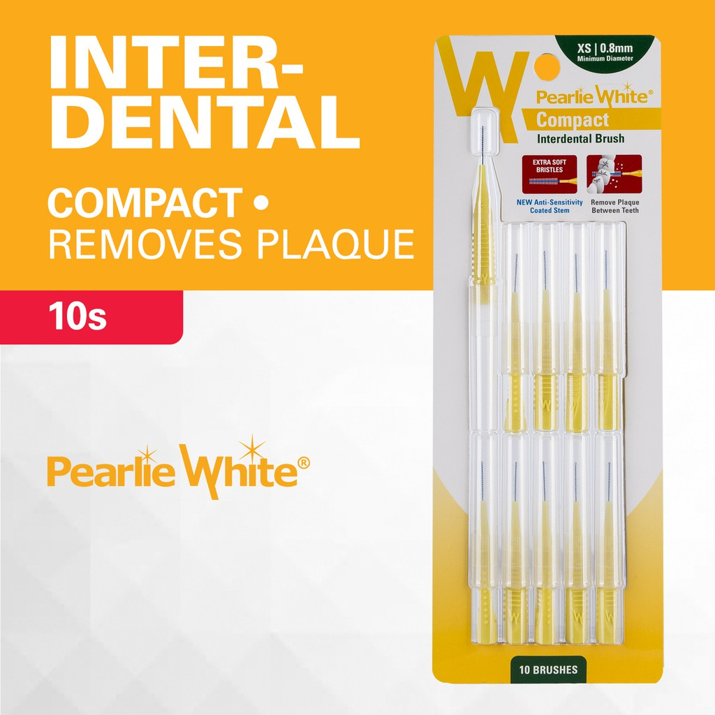 Pearlie White Compact Interdental Brush XS 0.8mm Pack of 10s