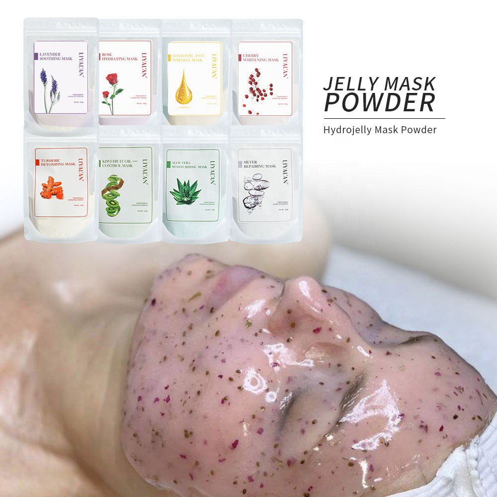 LIYAL'AN Rose Gold Collagen Spa Peel Off Face Hydro Jelly Mask Powder Rubber Facial Mask Skin Care 100g