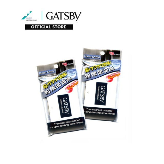 GATSBY Powdered Oil Clear Paper 70 sheets face paper, mens face