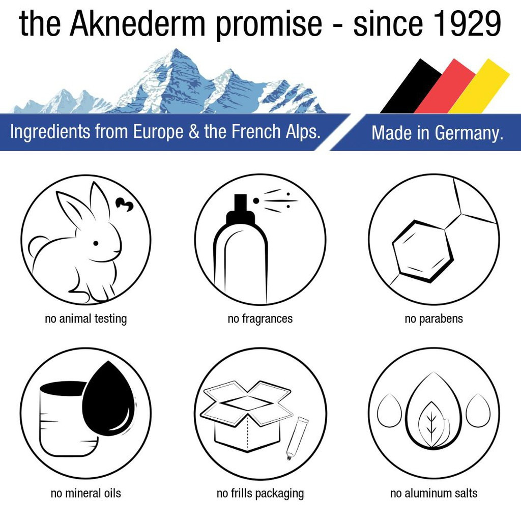 AKNEDERM CREME H Tinted Spot Treatment for all skin types. 30g