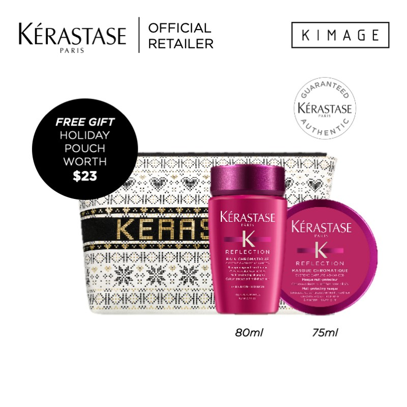 Kerastase Travel Sized Packset for Coloured Hair or Packset for Dry Hair with Free Pouch x Shopee Brand Box