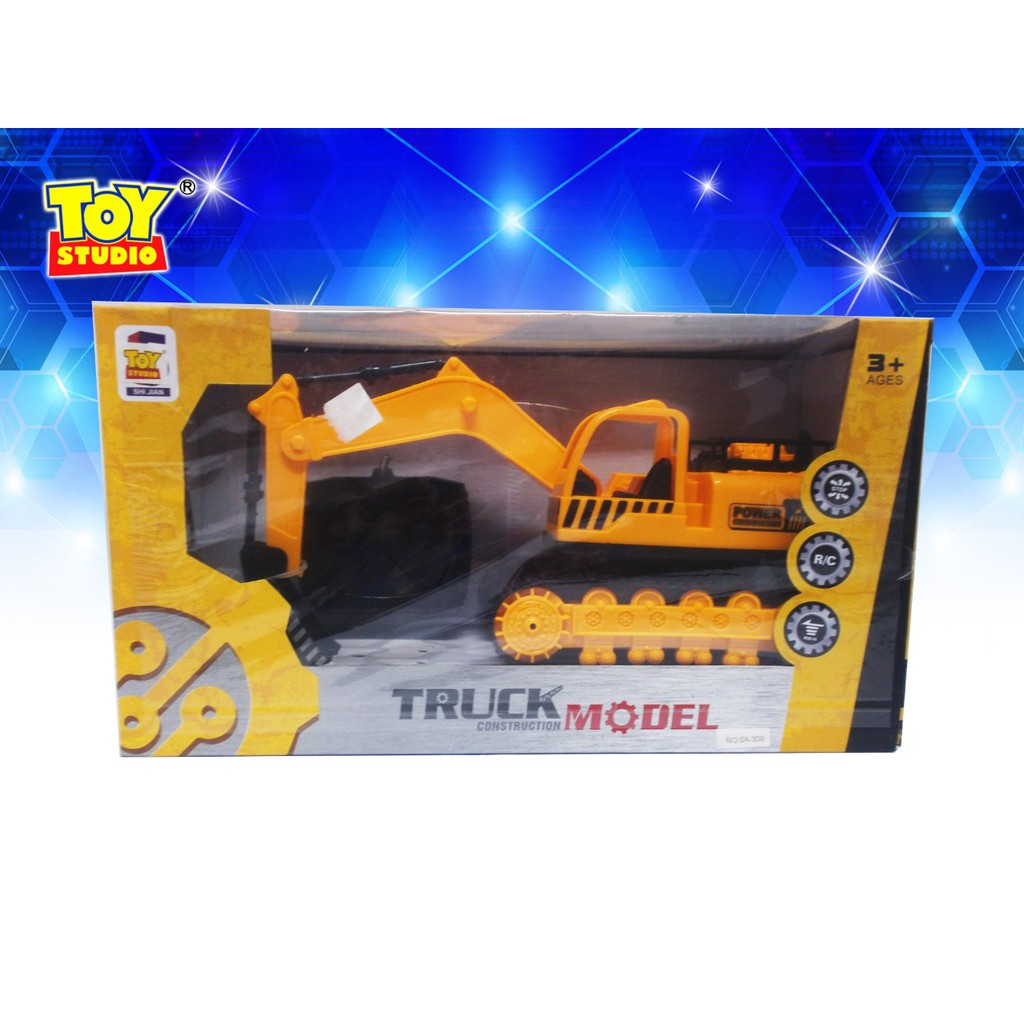 Mainan Anak Toy Studio  remote control construction truck with light