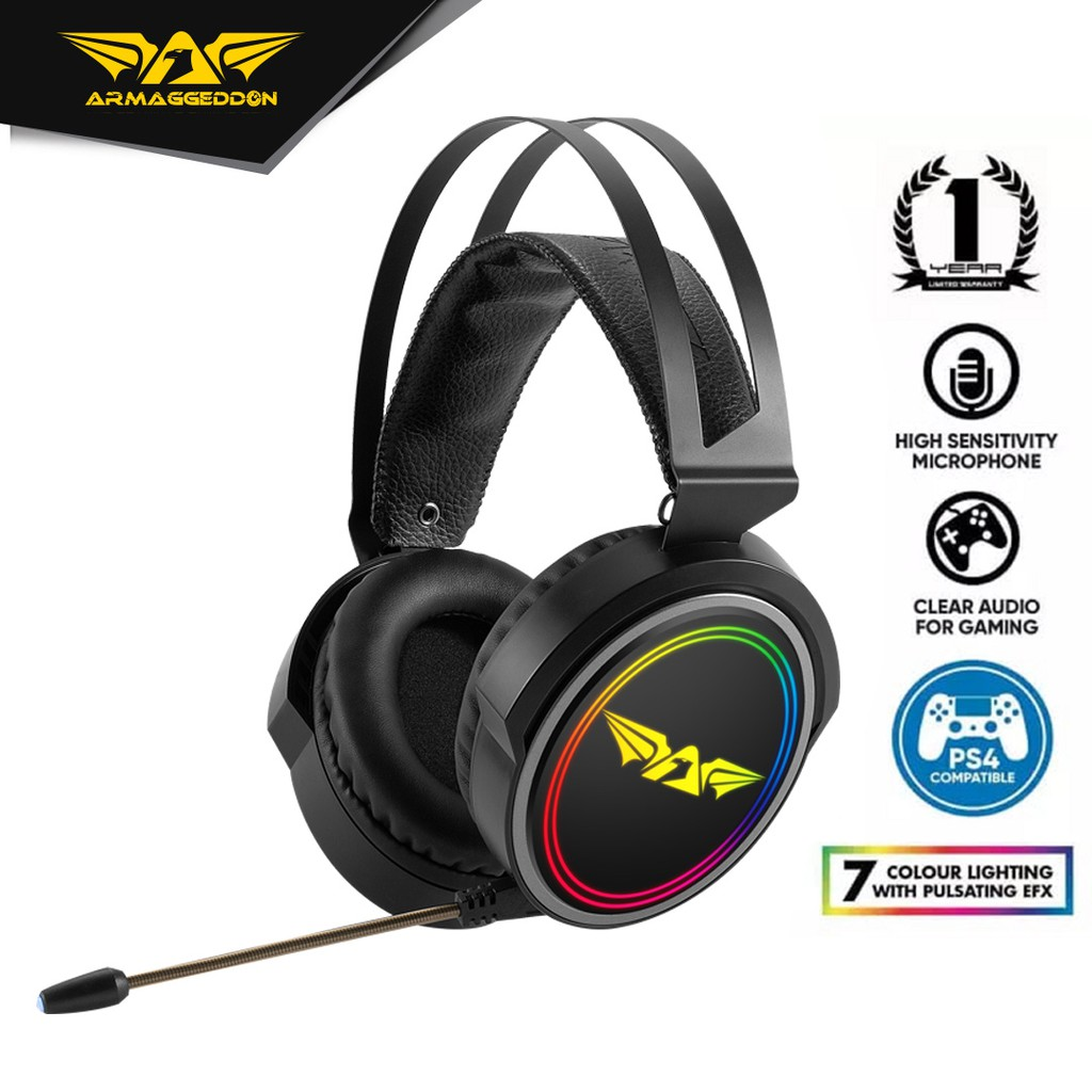 Armaggeddon Nuke 13R Surround 7.1 Gaming Headphones with Microphone For Laptop & PC Compatible PS4