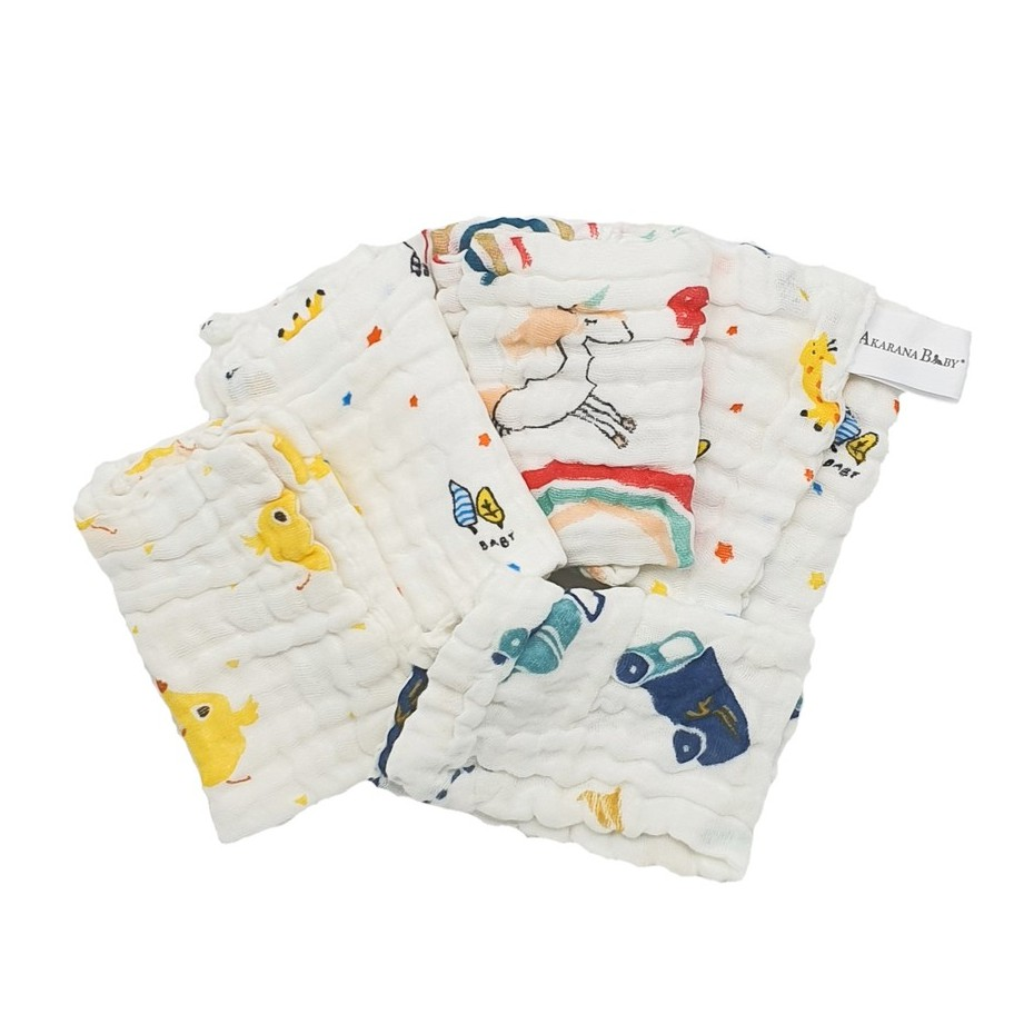 Baby Washcloth 100% 6 Layers Cotton 2pcs/pack