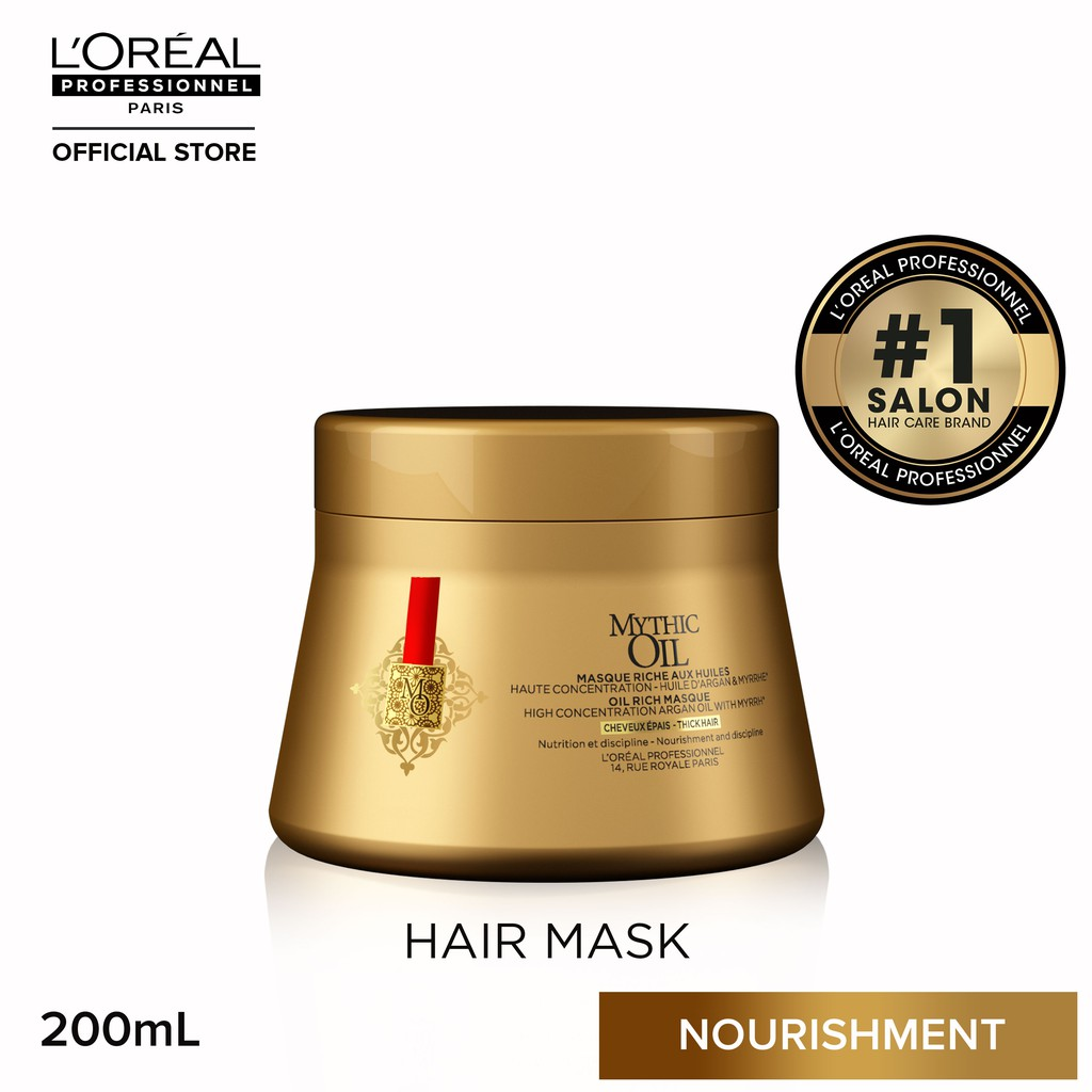 L'Oreal Mythic Oil Mask Hair Treatment for Dry and Thick Hair 200mL