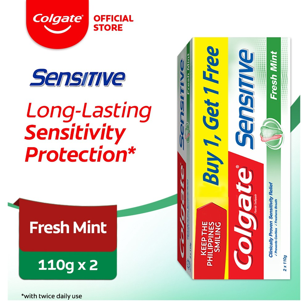 Colgate Sensitive Fresh Mint Toothpaste 110g Twin Pack
