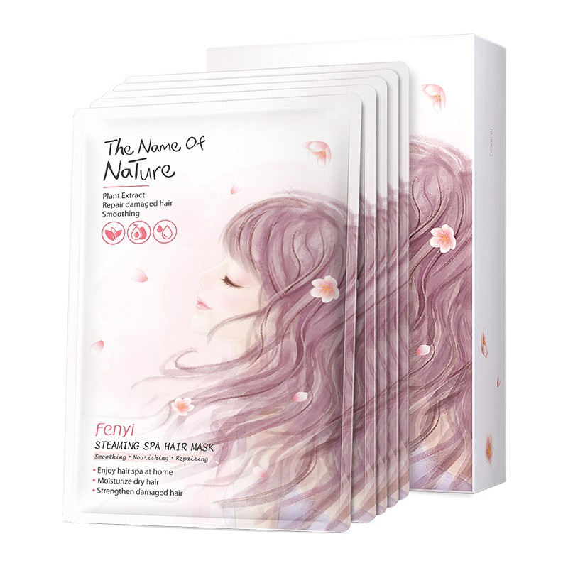 Hair Mask Spa Steaming Nourishing Straightening Curly Treatment For Dry Damaged Hair Split Ends Smooth 5pcs Set