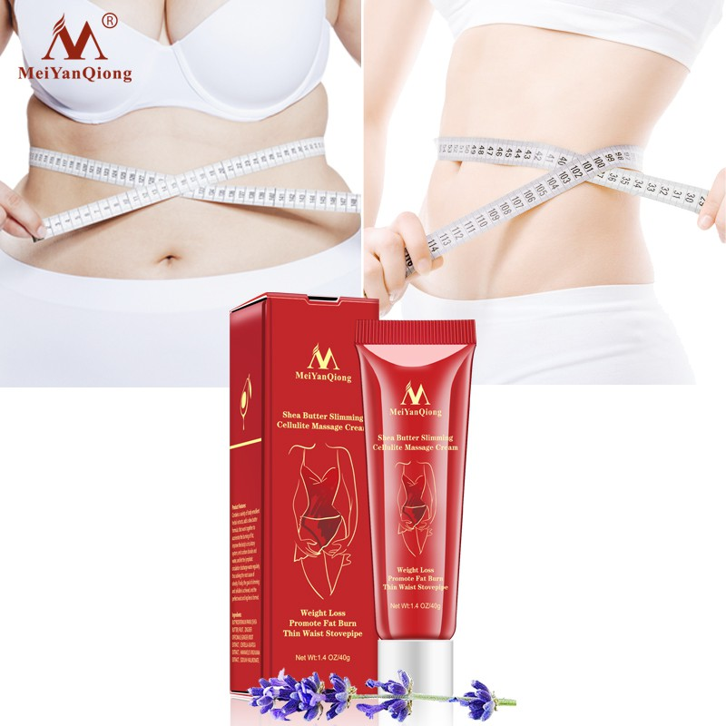 MeiYanQiong Butter Slimming Cellulite Massage Cream 1Piece Slimming Promote Fat Burn 40g