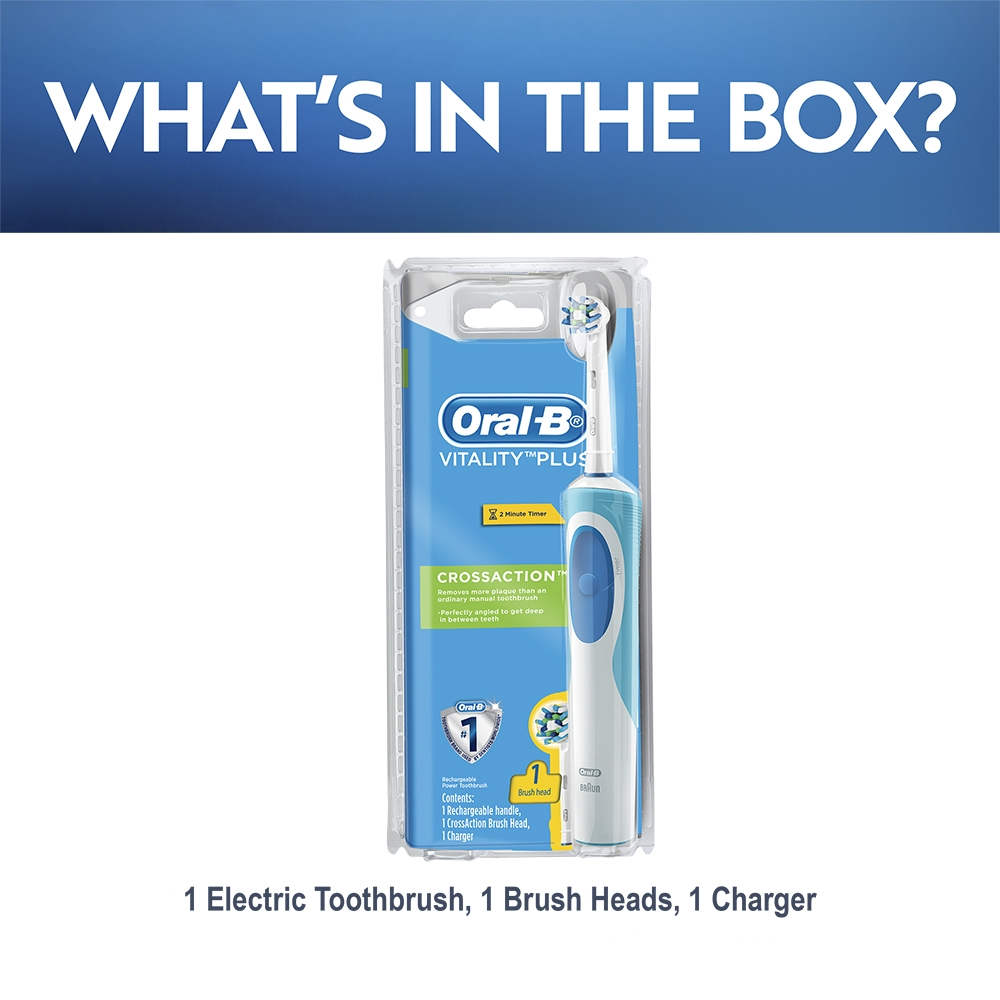 Oral-B Vitality Plus CrossAction Electric Toothbrush Powered By Braun