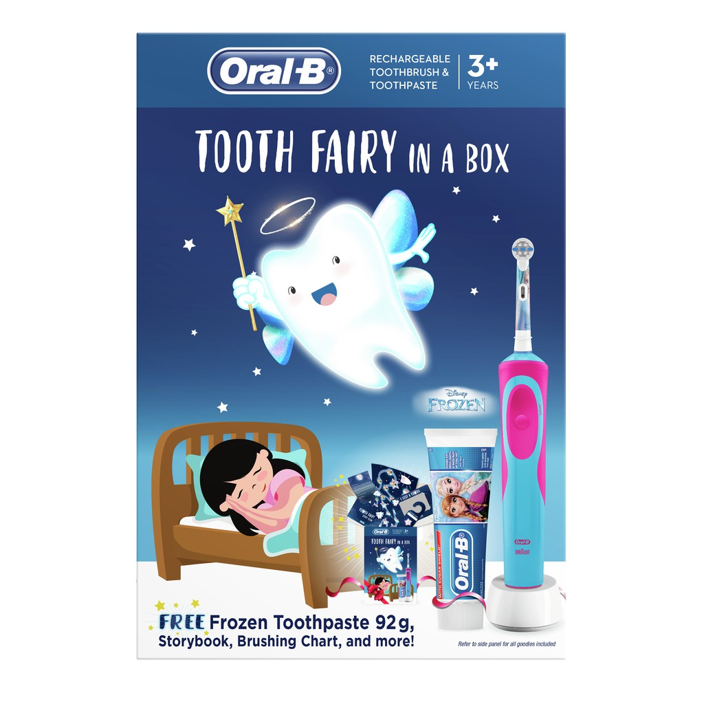 Limited Edition Oral-B Electric Toothbrush Disney Frozen Tooth Fairy Box Set with Free Gift