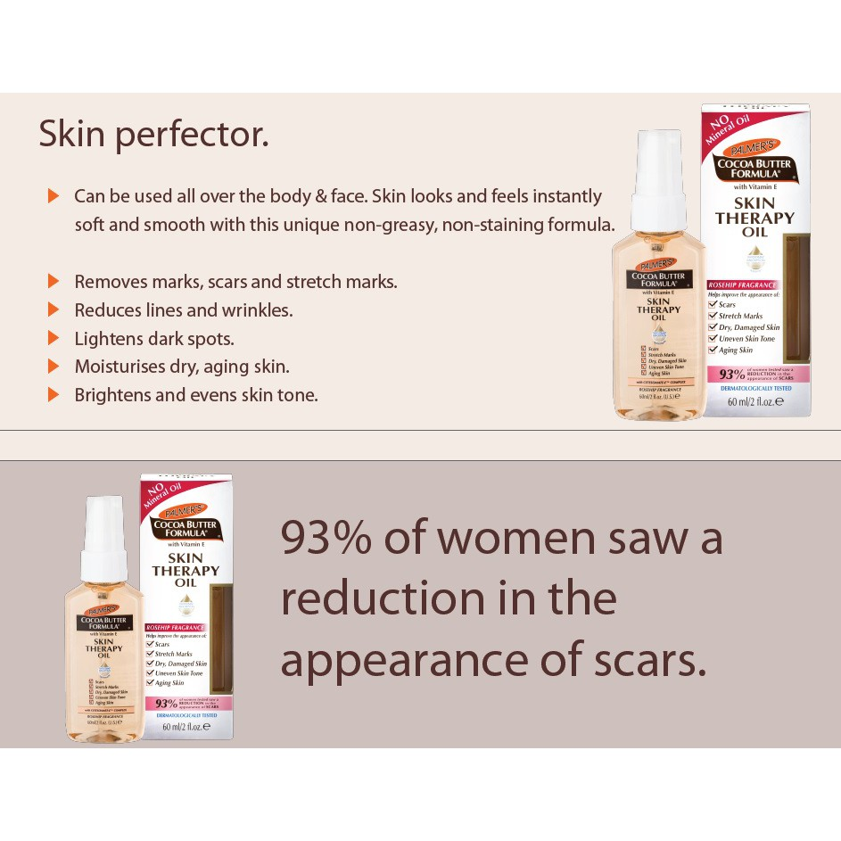 Palmer's Cocoa Butter Skin Therapy Oil Rosehip Fragrance 60ml