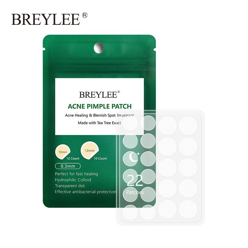BREYLEE Acne Pimple Patch Acne Treatment Stickers Pimple Remover Tool Spot Face Mask Night Use