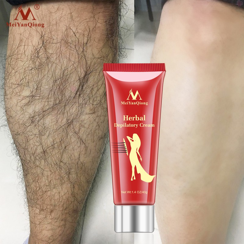 MeiYanQiong 2pcs/lot Herbal Hair Removal Cream Depilatory Painless Cream Removes Underarm Leg Hair Body Care Shaving and Hair Removal